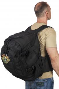 Черный трехдневный рюкзак с нашивкой Ни Пуха ни Пера - купить онлайн
