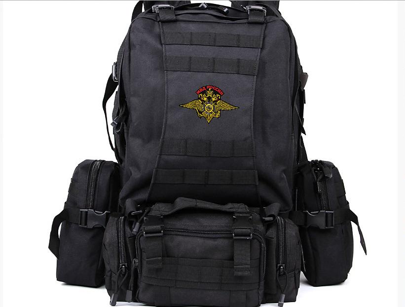 Черный трехдневный рюкзак с шевроном МВД России