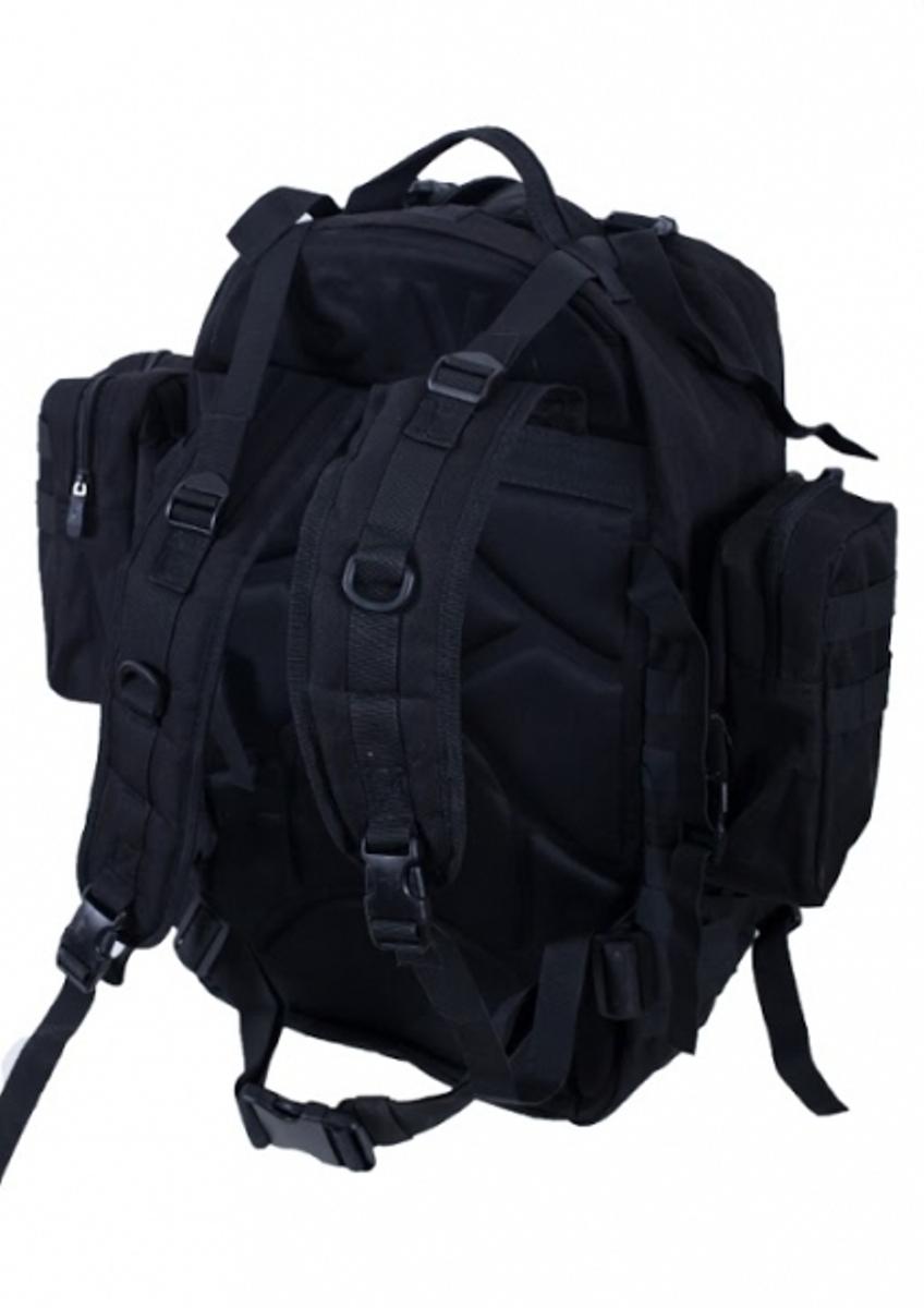 Заказать черный трехдневный рюкзак с шевроном МВД России