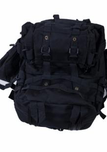 Черный трехдневный рюкзак с шевроном МВД России купить онлайн