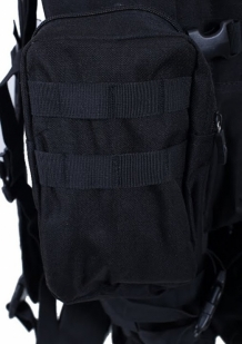 Черный трехдневный рюкзак с шевроном МВД России купить оптом