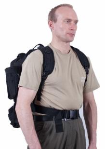 Черный трехдневный рюкзак с шевроном МВД России купить в подарок
