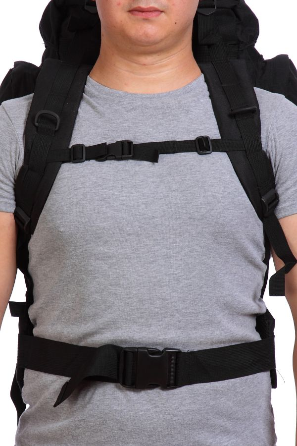 Черный туристический рюкзак с нашивкой Погранслужбы - купить в подарок