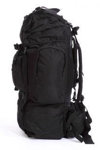 Черный туристический рюкзак с нашивкой Погранслужбы - заказать в подарок