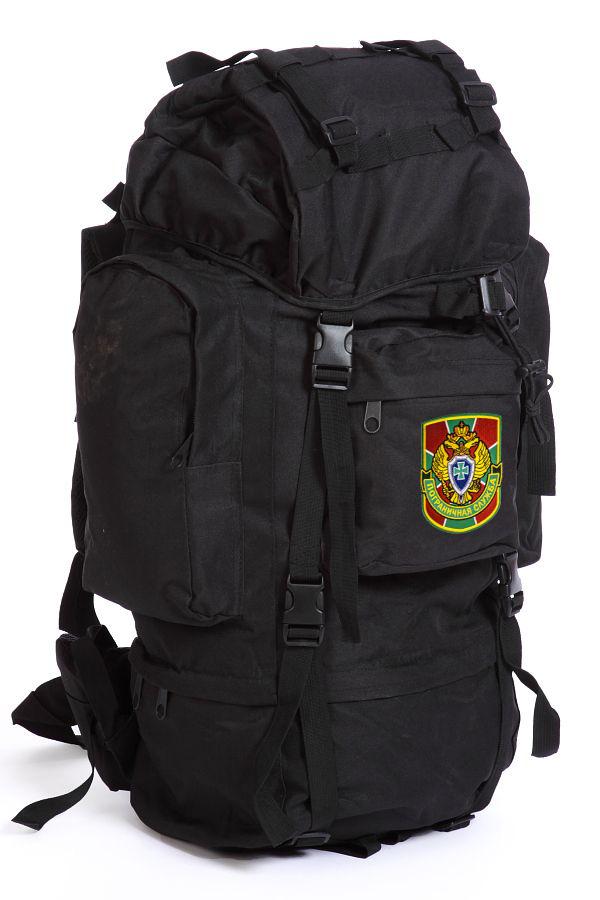 Черный туристический рюкзак с нашивкой Погранслужбы - купить онлайн