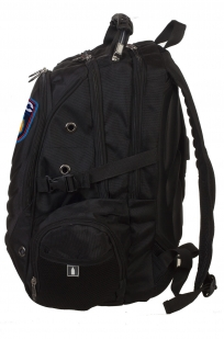 Черный удобный рюкзак с нашивкой ДПС купить в подарок
