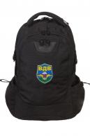 Черный удобный рюкзак с нашивкой ВДВ