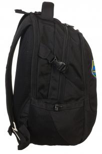 Черный удобный рюкзак с нашивкой ВДВ - заказать онлайн