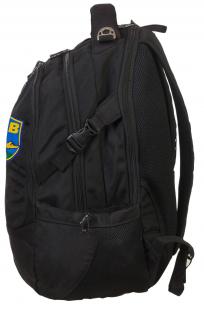 Черный удобный рюкзак с нашивкой ВДВ - заказать с доставкой