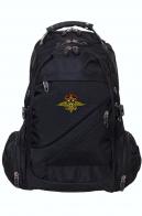 Черный универсальный рюкзак с эмблемой МВД