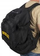 Черный универсальный рюкзак с нашивкой МВД - купить выгодно