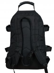 Черный универсальный рюкзак с нашивкой МВД - заказать выгодно
