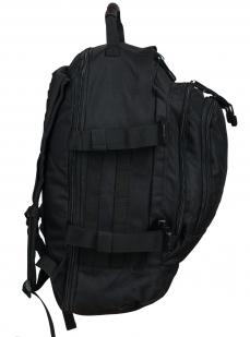 Черный универсальный рюкзак с нашивкой МВД - заказать в подарок