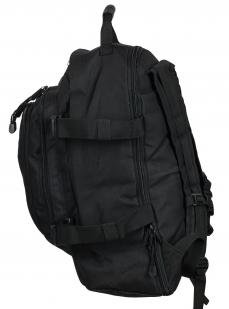 Черный универсальный рюкзак с нашивкой МВД - заказать оптом