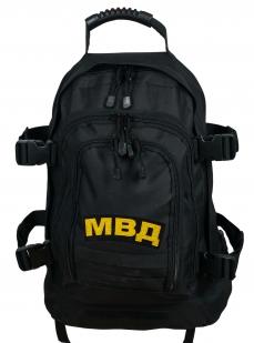 Черный универсальный рюкзак с нашивкой МВД - заказать в розницу