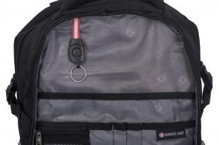 Черный универсальный рюкзак с нашивкой РВСН - купить оптом