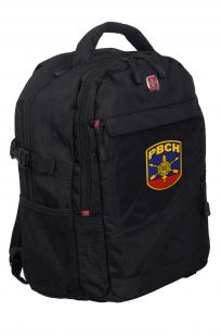 Черный универсальный рюкзак с нашивкой РВСН - заказать с доставкой