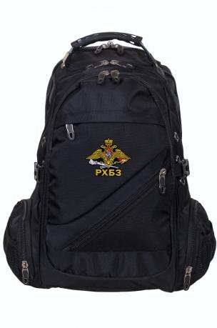 Черный универсальный рюкзак с шевроном РХБЗ