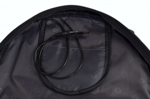 Черный универсальный рюкзак с шевроном РХБЗ купить в подарок