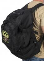 Черный вместительный рюкзак с нашивкой Герб России