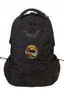 Черный вместительный рюкзак с нашивкой МОРПЕХ