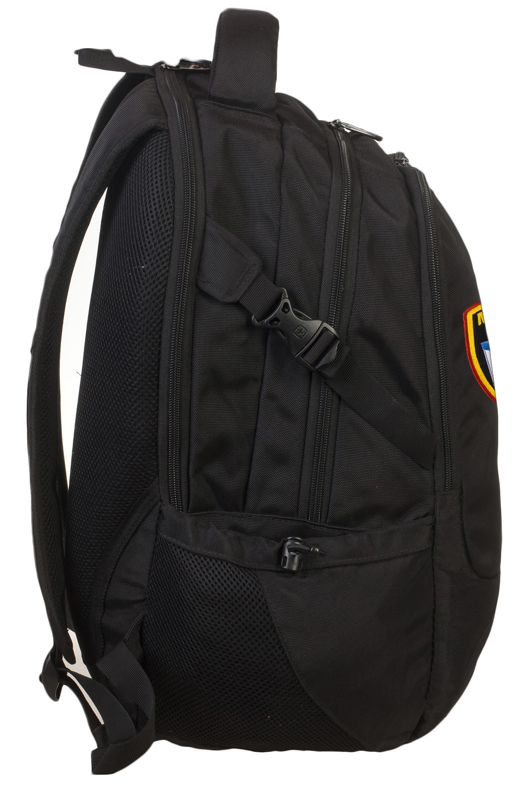 Черный вместительный рюкзак с нашивкой Морская Пехота - купить выгодно