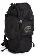 Черный вместительный рюкзак с нашивкой Охотничий Спецназ