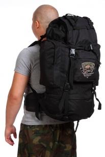 Черный вместительный рюкзак с нашивкой Охотничий Спецназ - купить с доставкой