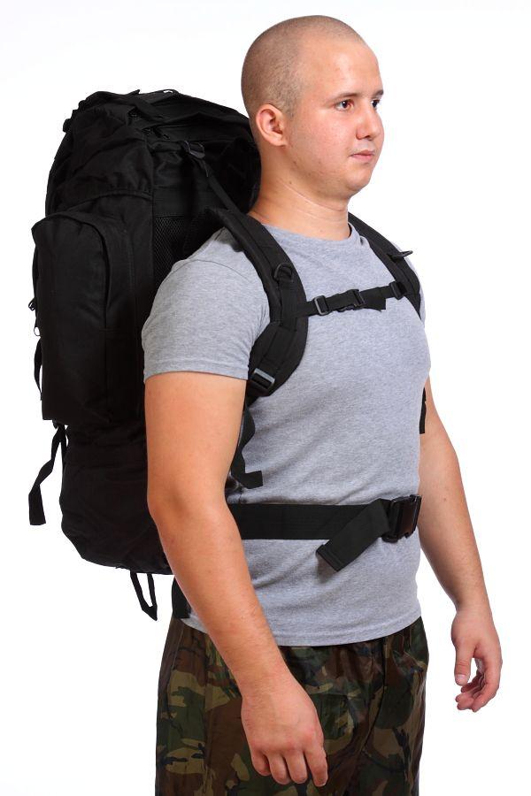 Черный вместительный рюкзак с нашивкой Охотничий Спецназ - купить оптом