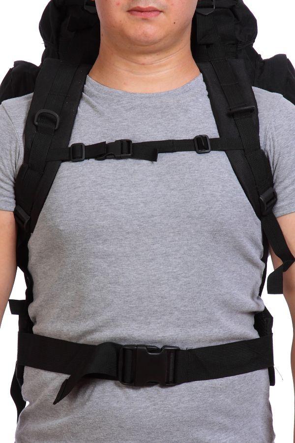Черный вместительный рюкзак с нашивкой Охотничий Спецназ - купить в Военпро