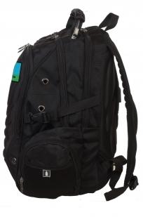 Черный вместительный рюкзак с нашивкой Разведка ГРУ - купить с доставкой