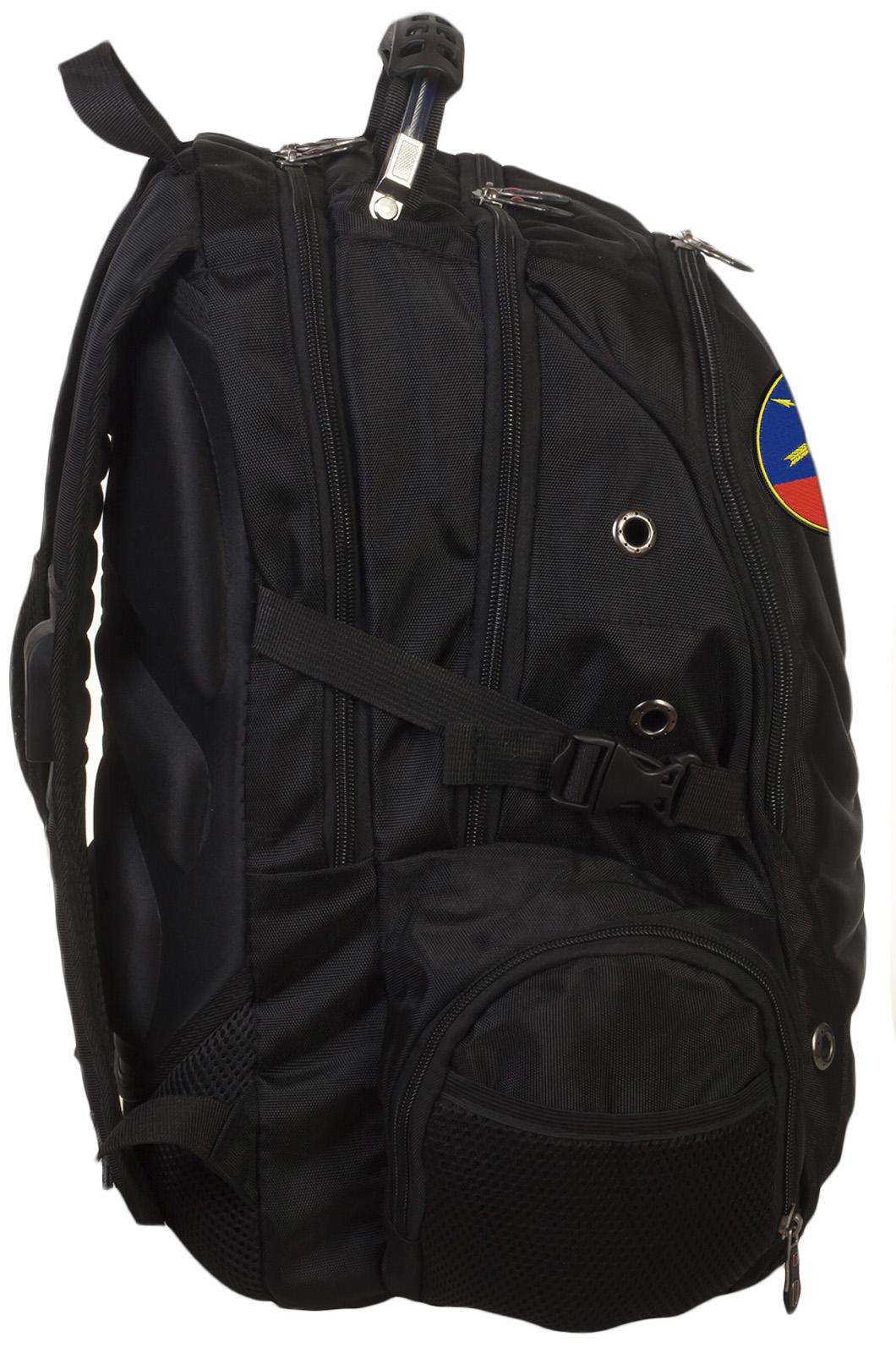 Черный вместительный рюкзак с нашивкой РВСН - купить онлайн