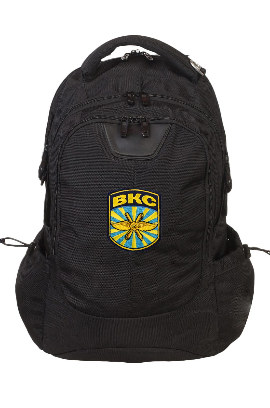 Черный вместительный рюкзак с нашивкой ВКС