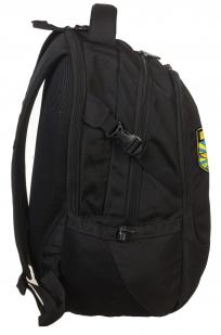 Черный вместительный рюкзак с нашивкой ВКС - купить оптом