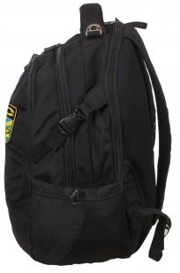 Черный вместительный рюкзак с нашивкой ВКС - купить в розницу