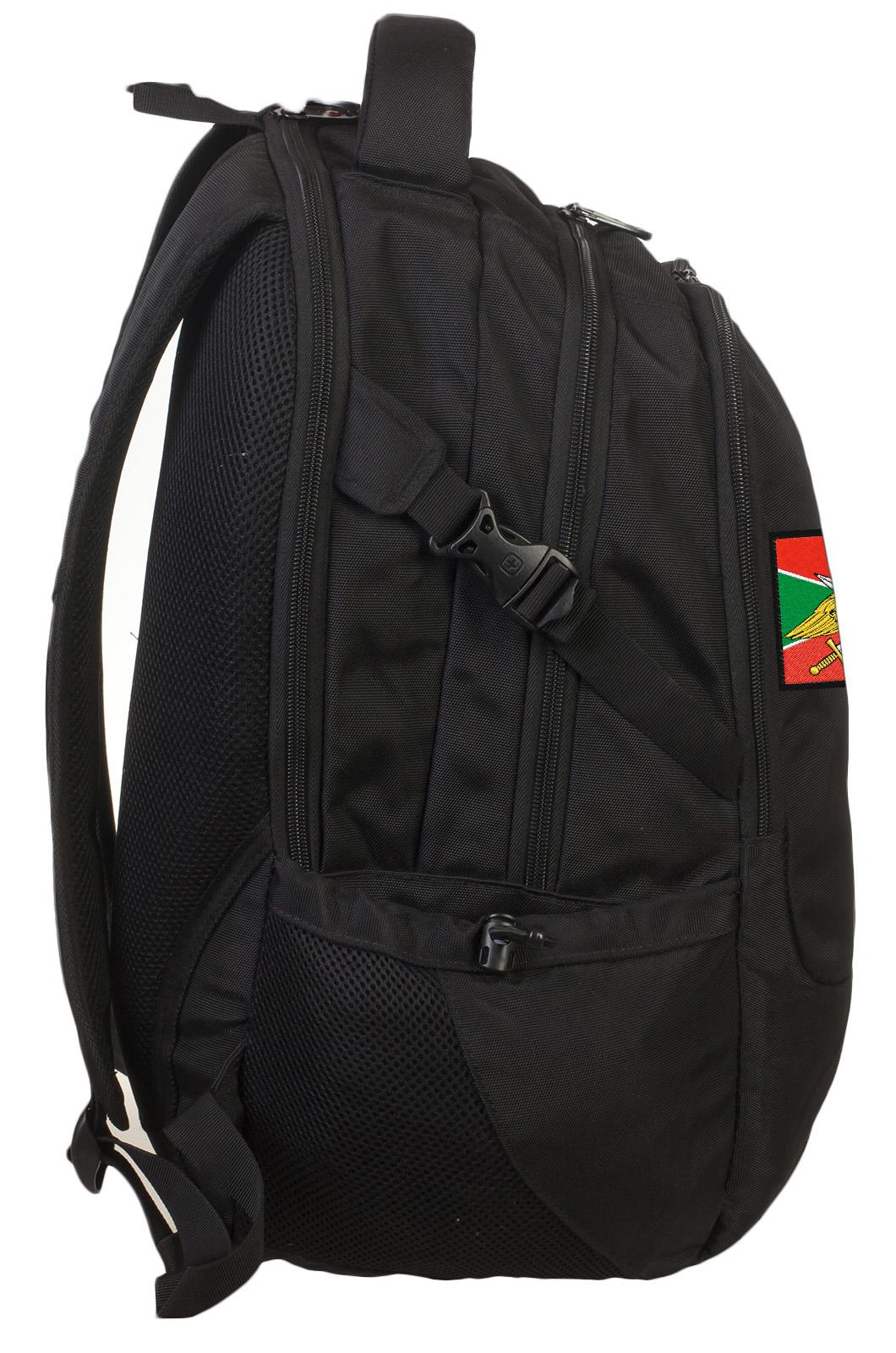 Черный внушительный рюкзак с нашивкой Погранвойска - заказать выгодно