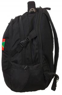 Черный внушительный рюкзак с нашивкой Погранвойска - заказать с доставкой