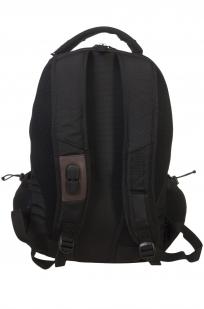Черный внушительный рюкзак с нашивкой Погранвойска - заказать оптом