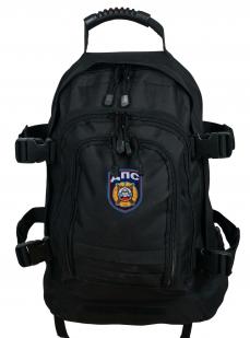 Черный военный рюкзак с нашивкой ДПС - заказать в подарок