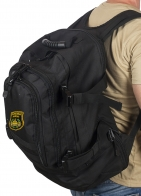 Черный военный рюкзак с нашивкой Танковые Войска