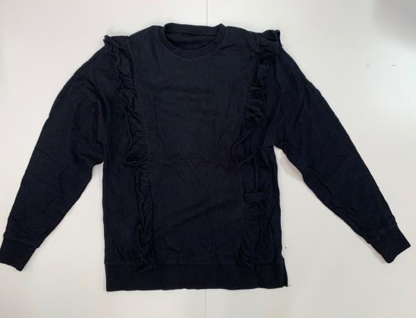 Черный женский свитшот с оборками