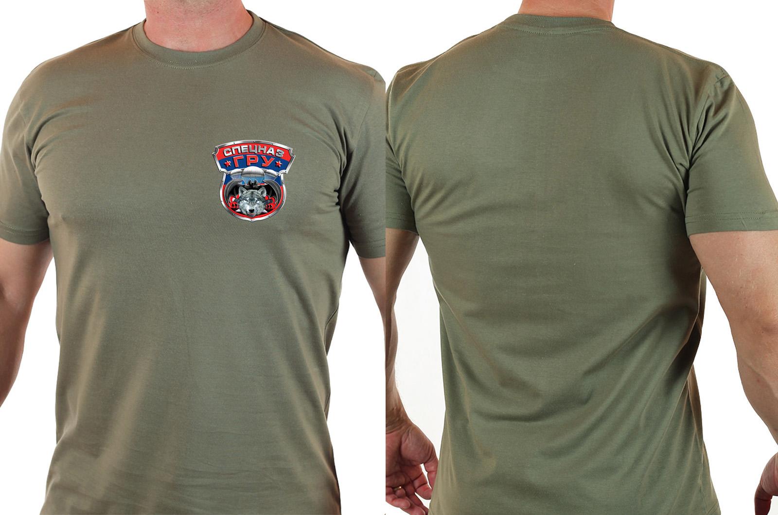 Чёткая футболка с нашивкой на груди Спецназ ГРУ