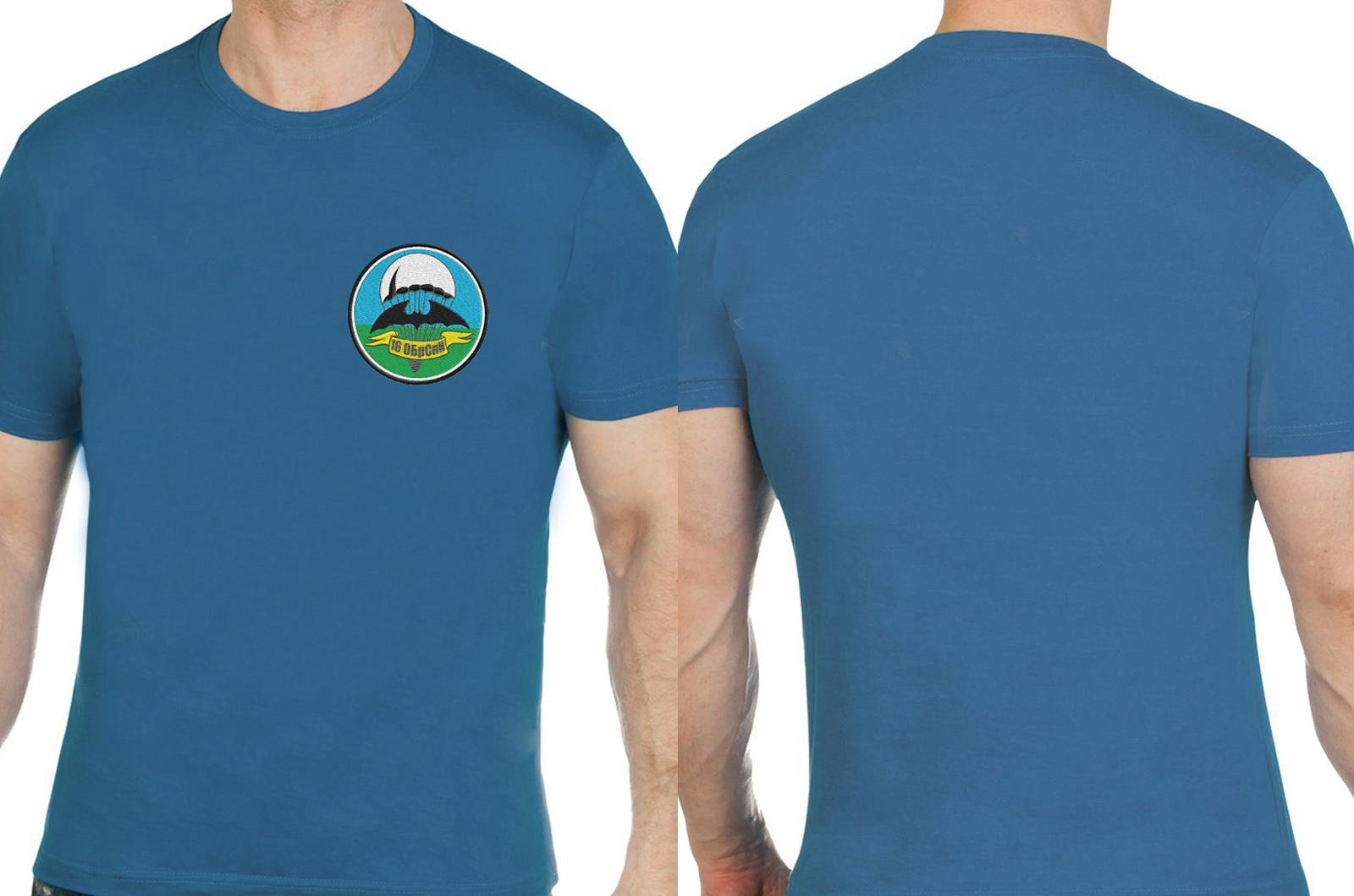 """Чёткая футболка с вышивкой """"16 ОБрСпН"""""""