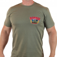 "Чёткая футболка с термотрансфером ""Морпех"""