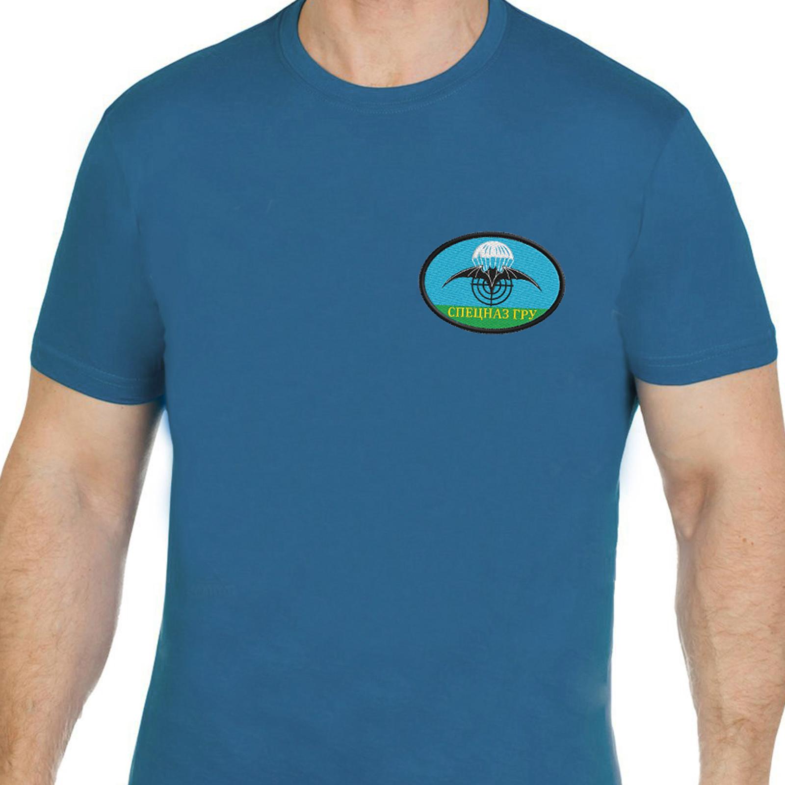 Чёткая футболка с вышивкой спецназ ГРУ