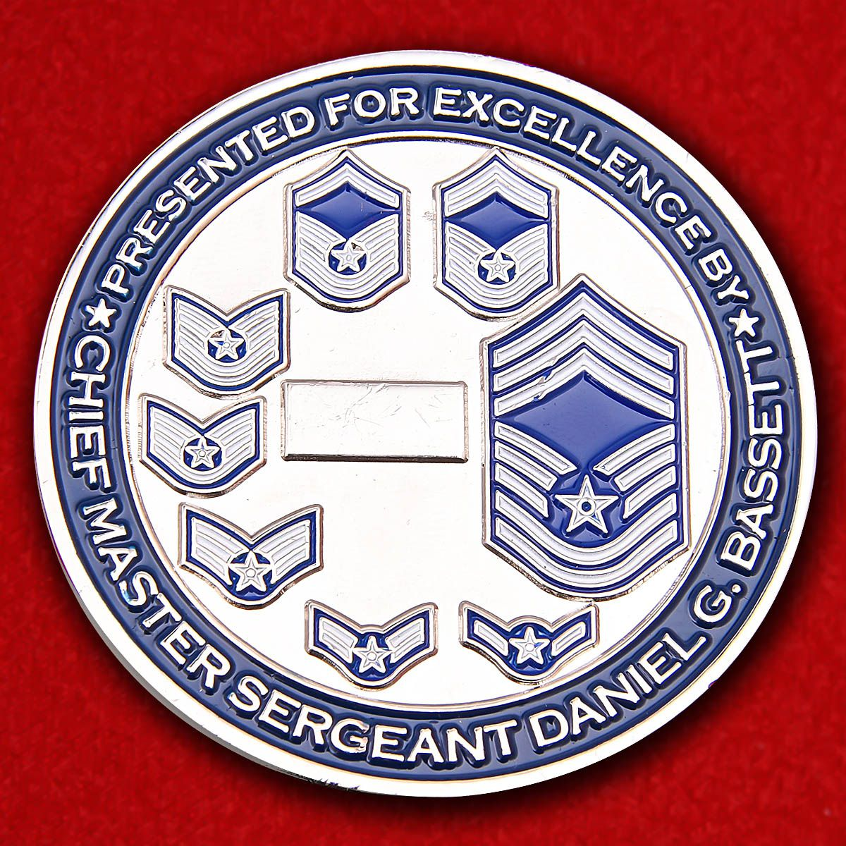 Chief Master Sergeant US Air Force Daniel G. Bassett Presented For Excellent Challenge Coin