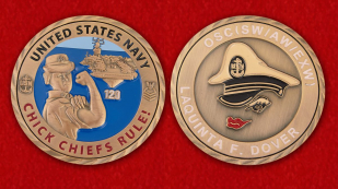 Chief Operating Specialist US Navy Laquenta F. Dover Challenge Coin