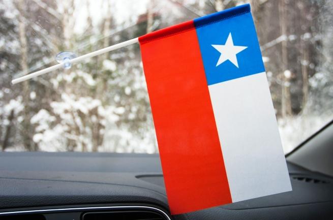 Чилийский флажок на присоске