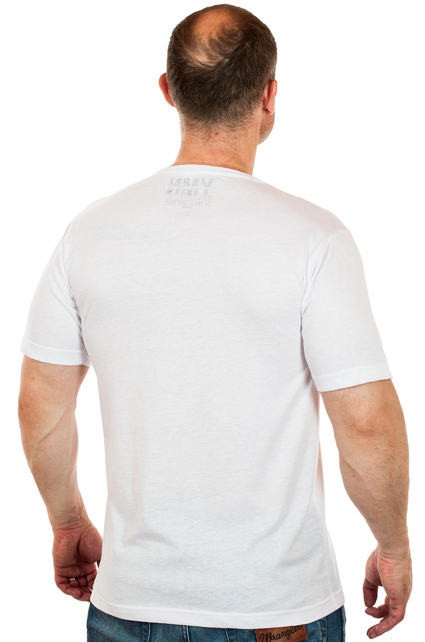 Чисто белая мужская футболка Max Young Man – модель, без которой не обойтись