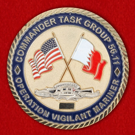 Coastal Riverine Group Two det Bahrain Challenge Coin